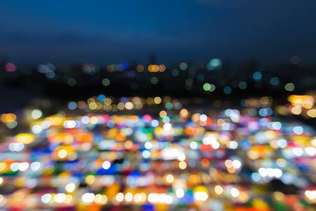 fleamarket: Night bokeh background multiple colour city lights