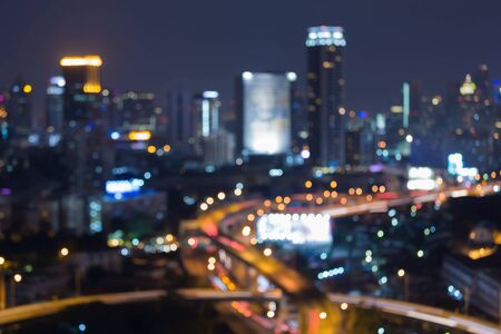 interchanged: City interchanged blurred lights, abstract background