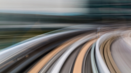 blur subway: Abstract motion blur of subway inside tunnel Stock Photo