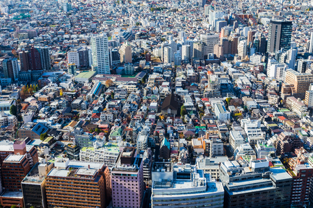 residence: Tokyo residence area, aerial view