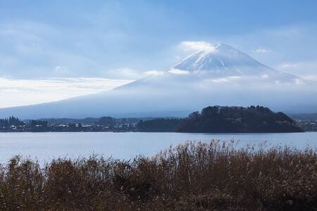 mountain view: Fuji Mountain with Kawakugigo lake front view, Japan