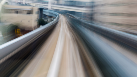 motion blur: Motion blur of train moving into tunnel