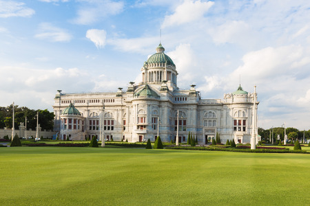 assembly hall: Anantasamakhom Throne Hall in Bangkok with blue sky, Thailand national museum open for public tourist visit