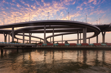 interchanged: Industrial Ring Road Bridge, highway interchanged, Bangkok Thailand Stock Photo
