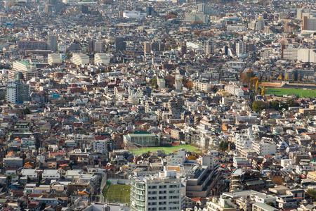 residences: Aerial view crown residences area, Tokyo Japan