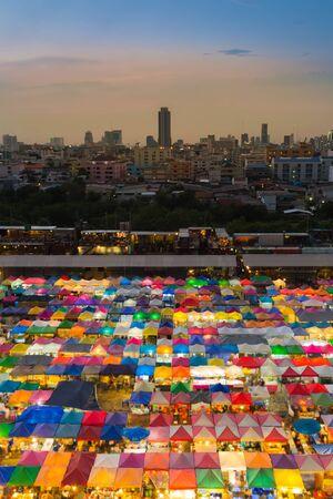 fleamarket: Twilight of Flea market roof top colourful on the weekend