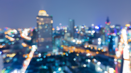 dallas: Night view blurred light bokeh, city downtown background