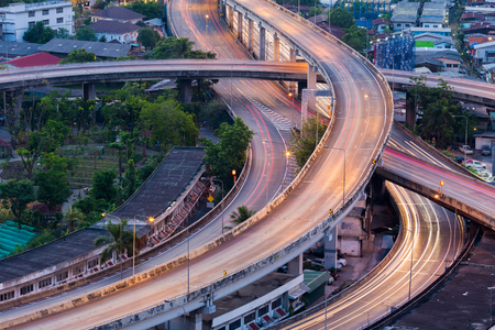 interchanged: Close up highway interchanged, long exposure shoot