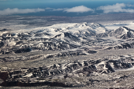 sunshines: Aerial view snow covered mountains, Iceland natural landscape