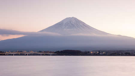 mountain view: Fuji Mountain with Kawakujigo lake front view, Natural landscape background