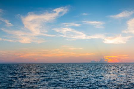 santa monica: Natural skyline sea and sky background early sunset