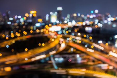 interchanged: Blurred city downtown highway interchanged, abstract background