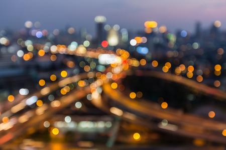 interchanged: Blurred lights highway interchanged night view