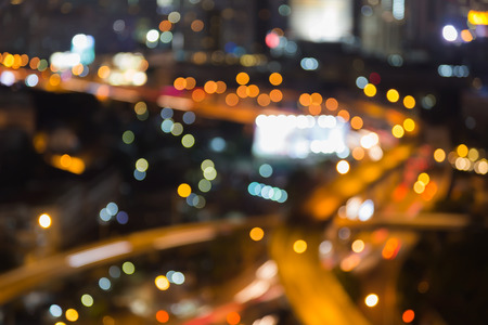 interchanged: Abstract blurred light, city highway interchanged night view Stock Photo