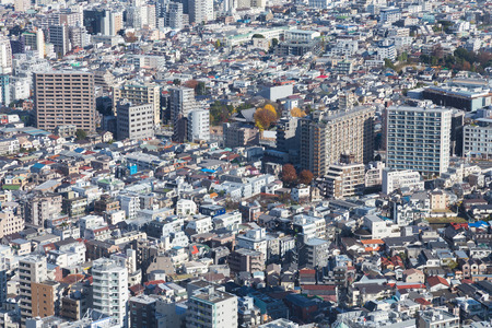 residence: Aerial view Tokyo city residence downtown, Japan