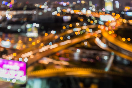 interchanged: Abstract blurred lights highway interchanged night view
