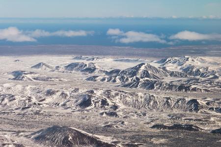 Snow mountain landscape, Winter season landscape skyline