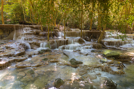 tat: Deep forest natural tropical waterfalls in national park of Thailand