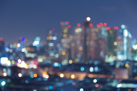 Blurred bokeh lights Office building, abstract background