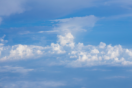 Cloudscape background, Blue sky and white cloud, natural landsape Stock Photo