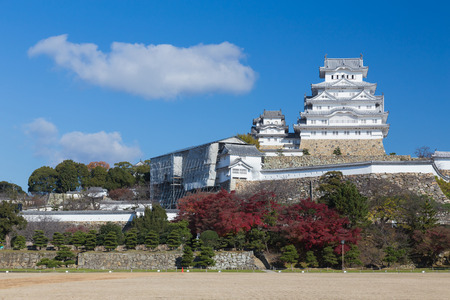 Himiji castle, Japan landmark during autumn season