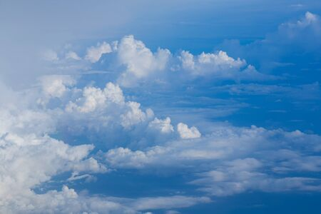 Blue sky and White cloud, natural landscape background Stock Photo