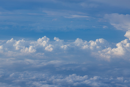 nautral: Blue sky and white clouds, nautral landscape background