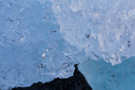 icefjord: Close up Ice cube texture breaking from glacier, pattern and blackground, Iceland winter season natural landscape background Stock Photo
