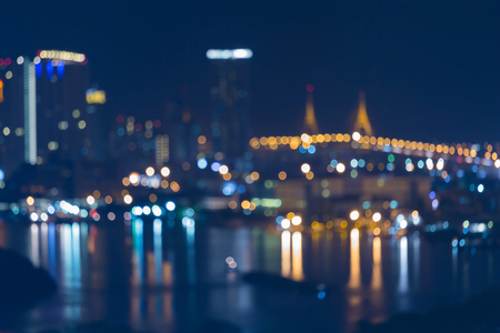 Twilight blurred light city night view, abstract background