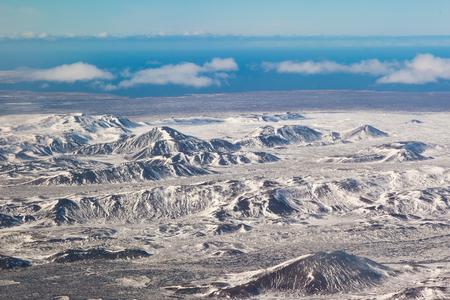 Iceland mountain shape landscape in winter season landscape background
