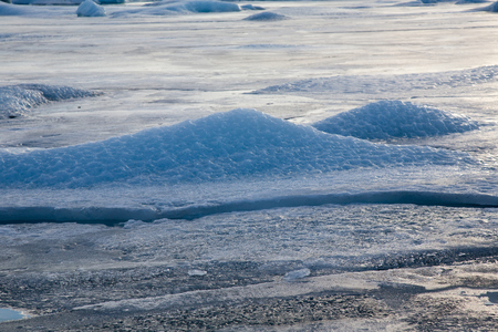 icefjord: Close up Ice on the lake, natural winter season landscape background Stock Photo