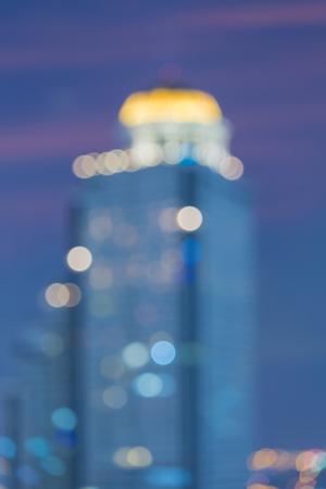milánó: City building blurred bokeh light vintage town, abstract background Stock fotó