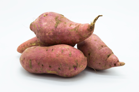 Potato on white background, Isolated organic food Foto de archivo