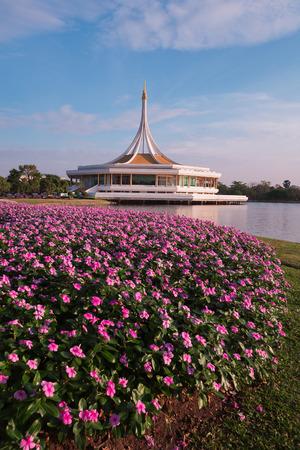 Beautiful Rama9 pubic flower garden park, Bangkok Thailand