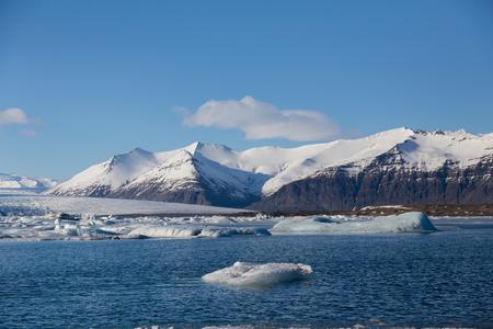 Jakusarlon winter season lagoon Iceland winter season natural landscape background