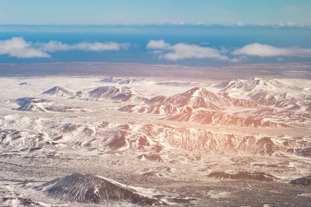 Black mountain aerial view winter season view, Iceland natural landscape