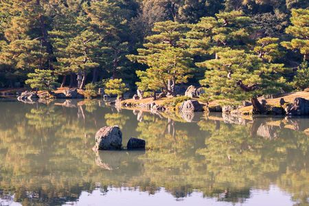 Japanese Zen Garden With Water Lake And Reflection Stock Photo   98017385