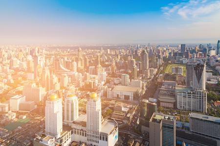Central business downtown cityscape skyline, Bangkok Thailand