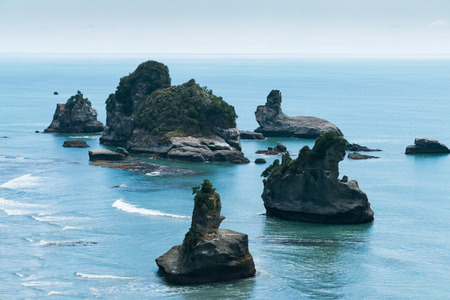 Natural bay point, Motukiekie outlook, New Zealand natural landscape background Stockfoto - 116131140