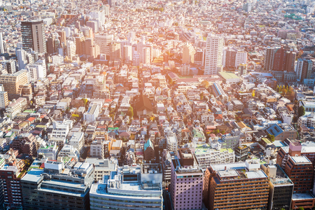 Tokyo residence aerial view Japan cityscape downtown