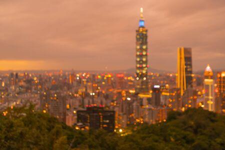Taipei city blur light skyline, abstract background Reklamní fotografie
