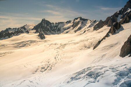 White snow covered mountain slope, New Zealand natural landscape background Reklamní fotografie