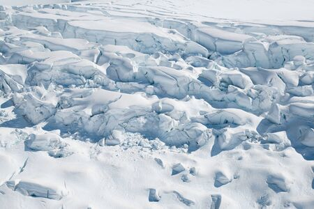 White soft snow ground, natural landscape background
