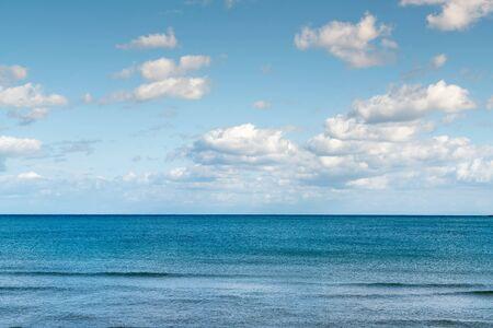 Blue ocean sky line natural landscape background Reklamní fotografie