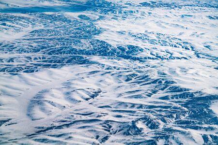 Beauty black rock mountain landscape texture aerial view Archivio Fotografico