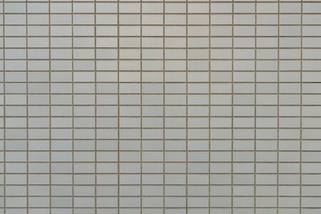 Cream brick wall pattern background and texture Archivio Fotografico