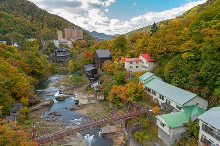 Jozankei hot spring during autumn season, Japan travel destination landscape
