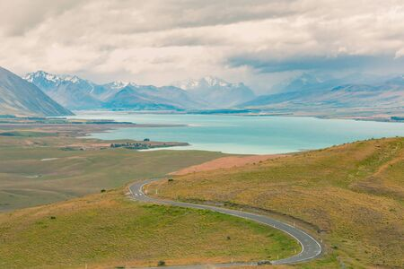 New Zealand natural landscape road trip in south island