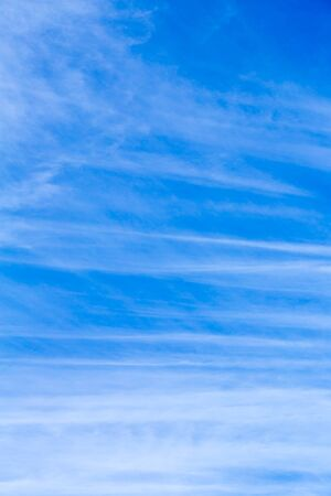 Blue sky white cloud pattern, natural landscape background Archivio Fotografico