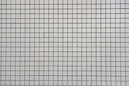 Gery square bathroom tiles wall line pattern background